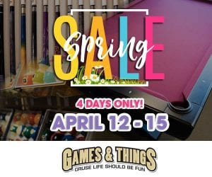 Games and Things Spring Sale on Pool Tables, Theater Seats, Game Tables, and more