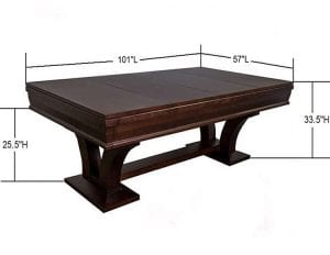Hamilton with Dims 8 foot table