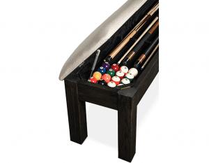 Kariba Billiards bench open side side