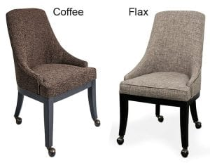 Presidential - Game Chairs in coffee and flax cloth