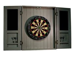 Presidential Rustic Dartboard Cabinet Open