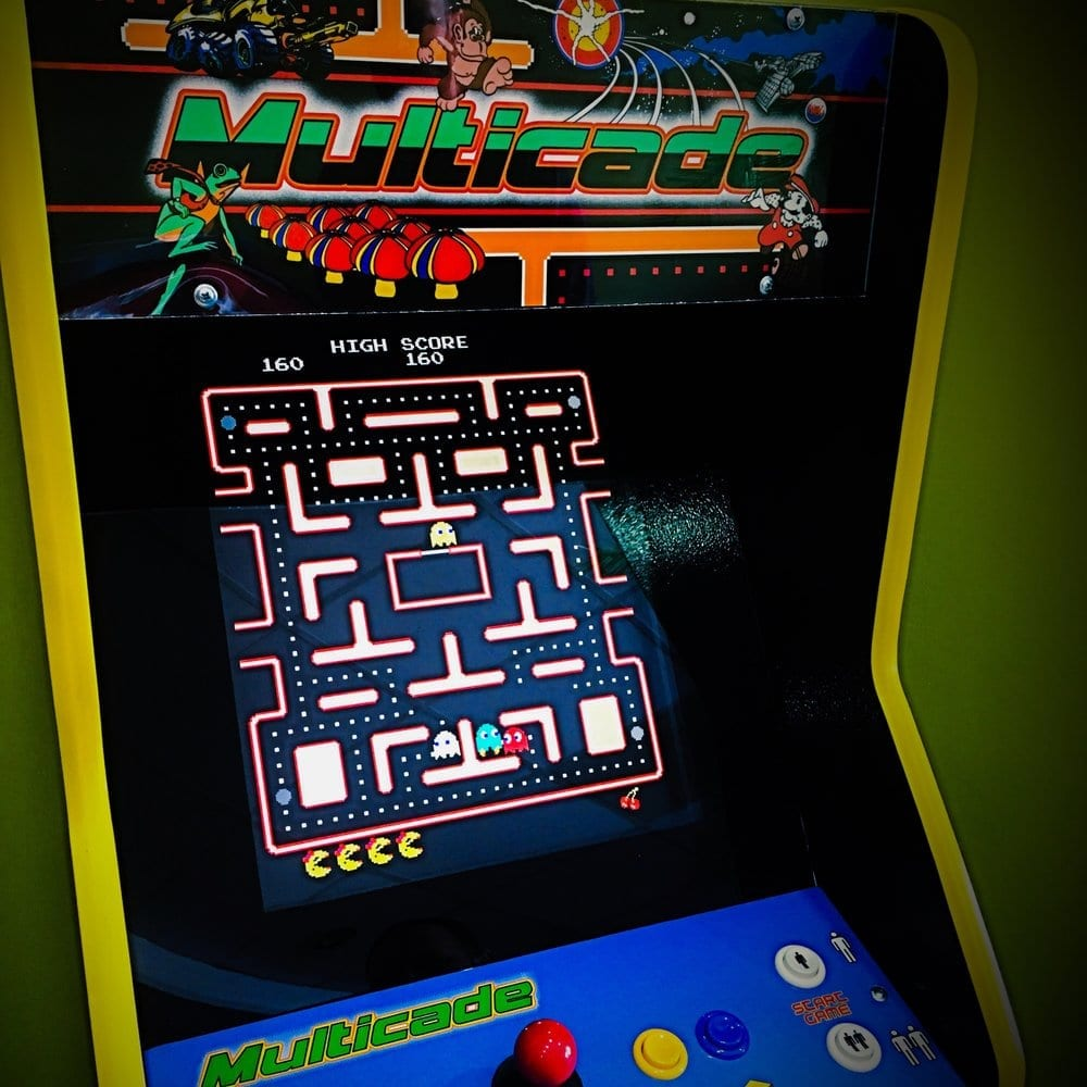 Upright Arcade Game Screen