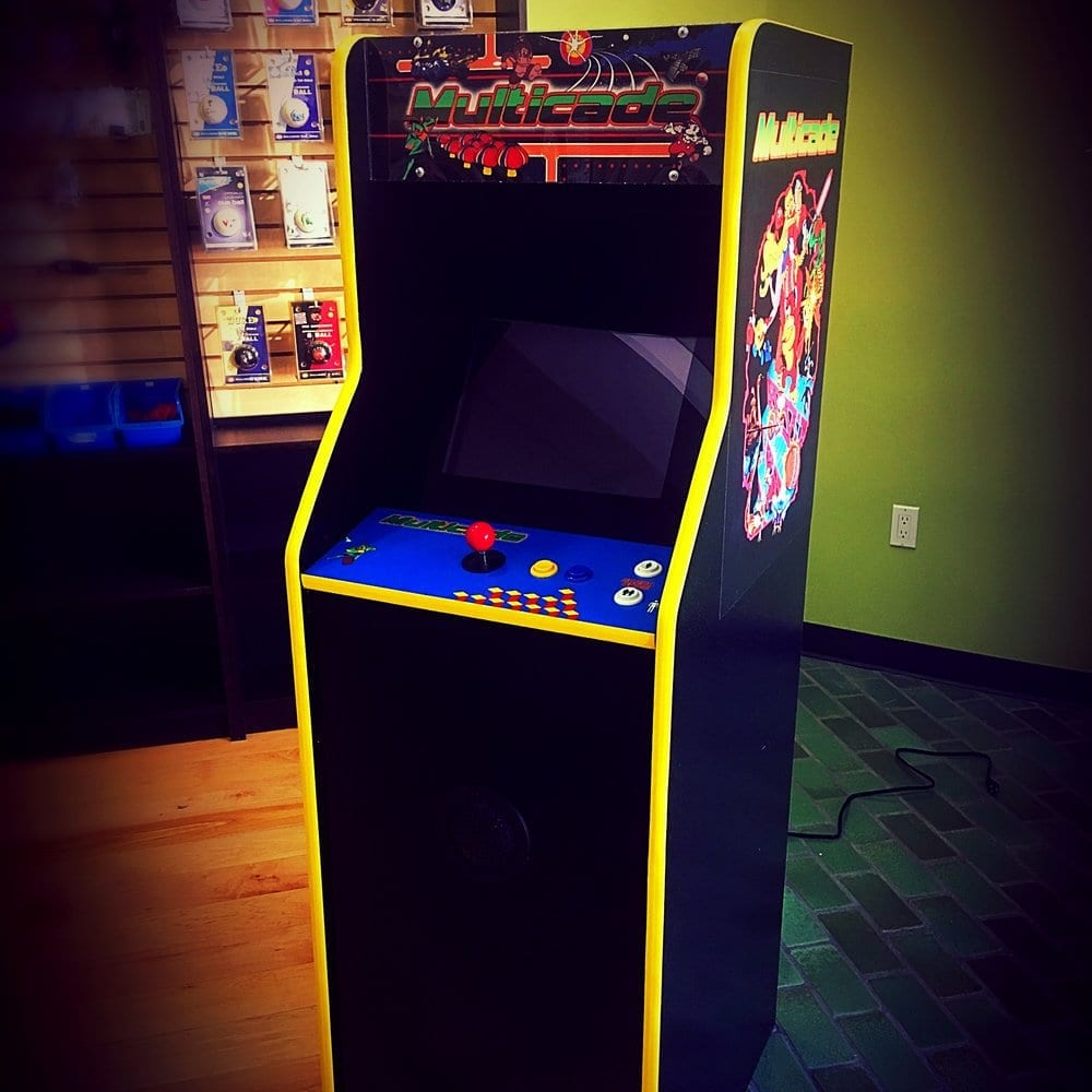 Upright Arcade Game in a Room