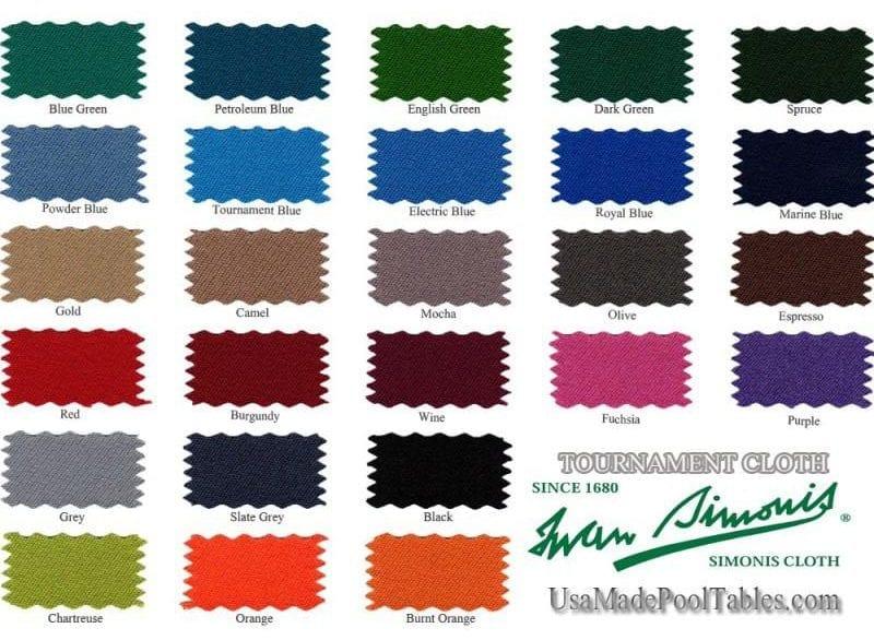 Simonis Cloth Color choices